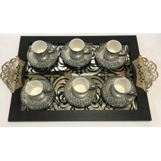 Coffee Set with Tray - 6983007012136