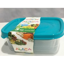 3 Plastic Food Containers - 8699120033504